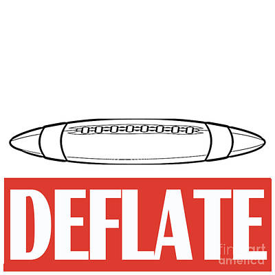 Deflate Poster by Edward Fielding