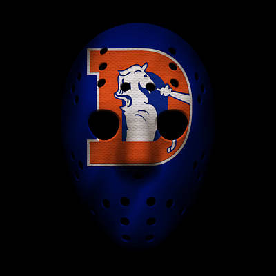 Denver Broncos War Mask 3 Poster by Joe Hamilton