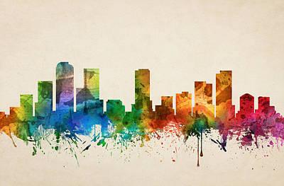 Denver Colorado Skyline 05 Poster by Aged Pixel