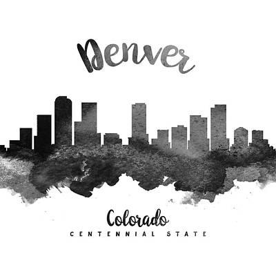 Denver Colorado Skyline 18 Poster by Aged Pixel