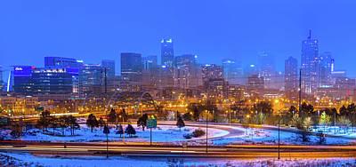 Denver Snowfall Poster by Mark Andrew Thomas