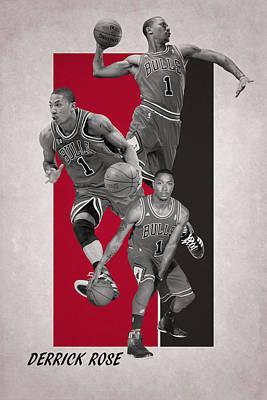 Derrick Rose Chicago Bulls Poster by Joe Hamilton
