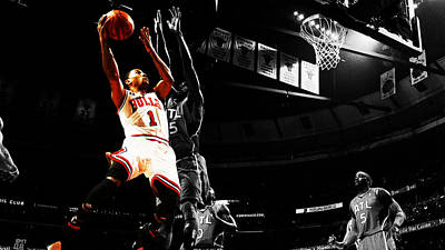 Derrick Rose The Raging Bull Poster by Brian Reaves