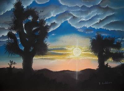 Desert Sky In Yucca Valley Poster by Terry Godinez