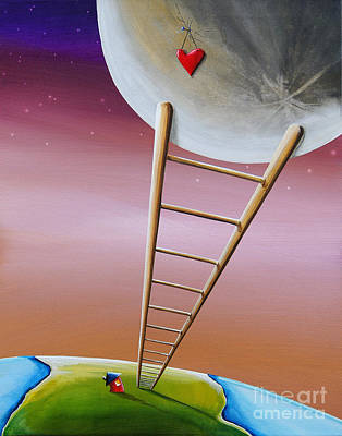 Destination Moon Poster by Cindy Thornton