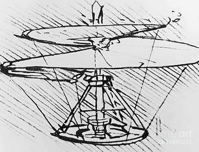 Detail Of A Design For A Flying Machine Poster by Leonardo Da Vinci