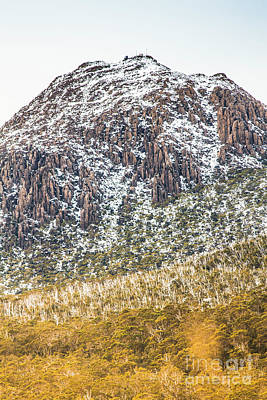 Detail On A Australian Snow Covered Mountain Poster by Jorgo Photography - Wall Art Gallery