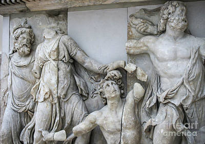 Detail Pergamon Altar In Marble Poster by Patricia Hofmeester