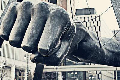 Detroit Joe Louis Fist - Color Poster by Alanna Pfeffer