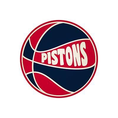Detroit Pistons Retro Shirt Poster by Joe Hamilton