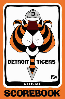 Detroit Tigers 1965  Vintage Scorebook Poster by Big 88 Artworks