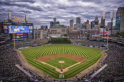 Detroit Tigers Comerica Park 4837 Poster by David Haskett