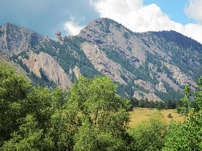 Devil's Thumb Flatirons Colorado Poster by Marilyn Hunt