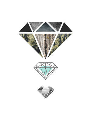 Diamond Art Print Poster by Manuela Pugliese
