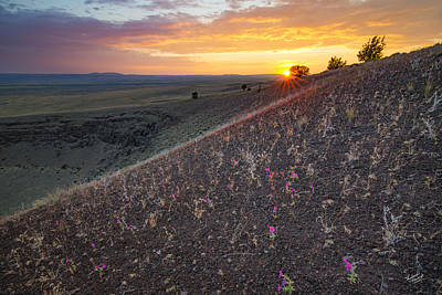 Diamond Craters Sunset Poster by Leland D Howard
