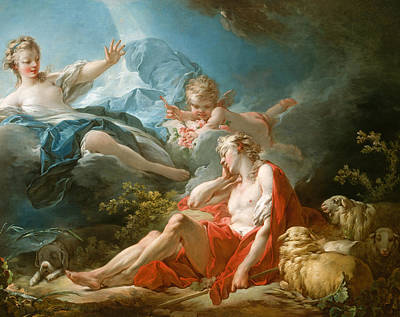 Diana And Endymion Poster by Jean-Honore Fragonard