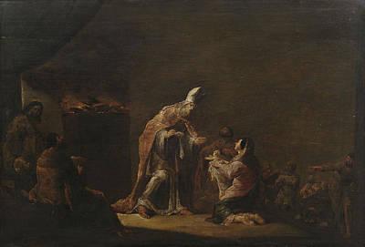 Die Darstellung Im Tempel Poster by Leonaert Bramer