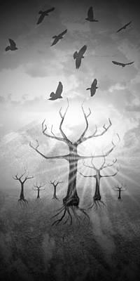 Digital-art Fantasy Landscape II Poster by Melanie Viola