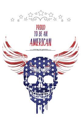 Digital-art Patriotism Poster by Melanie Viola