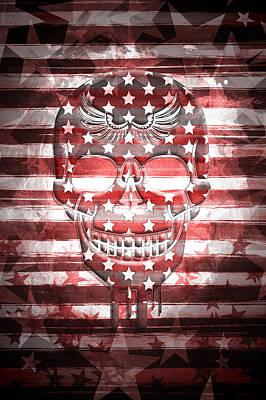 Digital-art Skull Poster by Melanie Viola