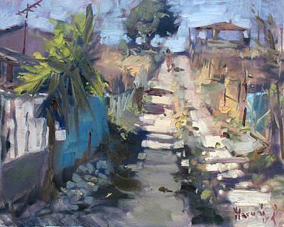 Dirt Road At Kostas Garden Poster by Ylli Haruni