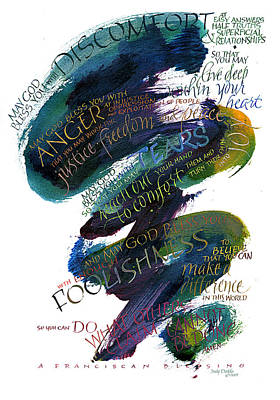 Discomfort Blue Poster by Judy Dodds