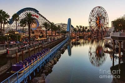 Disney California Adventure Poster by Eddie Yerkish