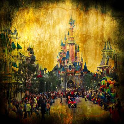 Disney World Poster by Svetlana Sewell