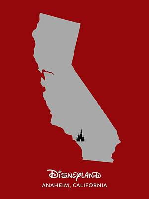 Disneyland Poster by Nancy Ingersoll