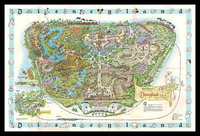 Disneyland Of Old Poster by Tommy Anderson