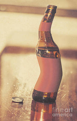 Distorted Beer Bottle Doing A Warped Dance Poster by Jorgo Photography - Wall Art Gallery