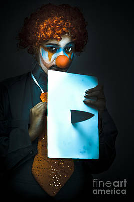 Disturbed Clown With Knife Poster by Jorgo Photography - Wall Art Gallery