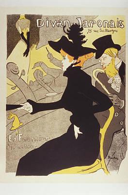 Divan Japonais 1895 Lithograph Poster by Bekare Creative
