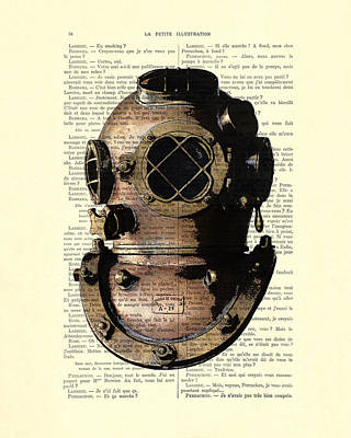 Diving Helmet Poster by Madame Memento