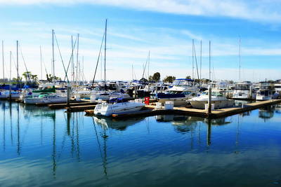 Docked In San Diego Poster by Glenn McCarthy Art and Photography