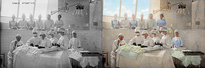 Doctor - Operation Theatre 1905 - Side By Side Poster by Mike Savad