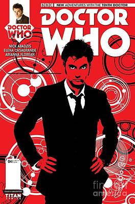 Doctor Who Comic Cover Poster by Pd