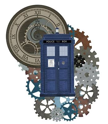 Doctor Who Inspred Time Travel 2 Poster by Alondra Hanley