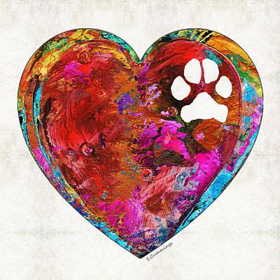 Dog Art - Puppy Love 2 - Sharon Cummings Poster by Sharon Cummings