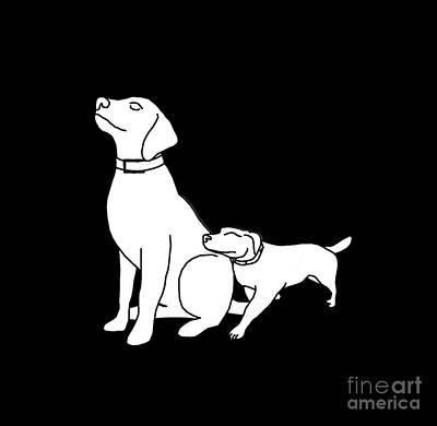 Dog Love Tee Poster by Edward Fielding