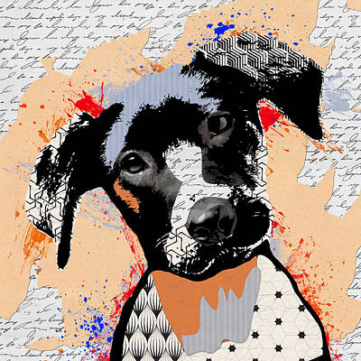 Dog Portrait 6 Poster by Mihaela Pater