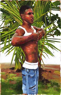 Dominican Beach Poster by Douglas Simonson