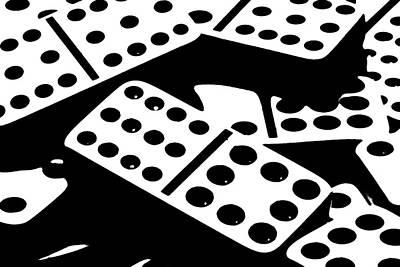 Dominoes Iv Poster by Tom Mc Nemar