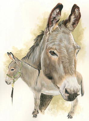 Donkey Poster by Barbara Keith