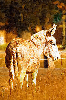 Donkey Poster by Paul Bartoszek