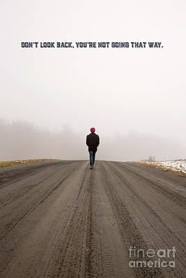 Don't Look Back Poster by Edward Fielding