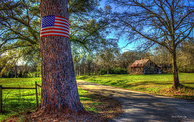 Don't Tread On Me American Flag Art Poster by Reid Callaway