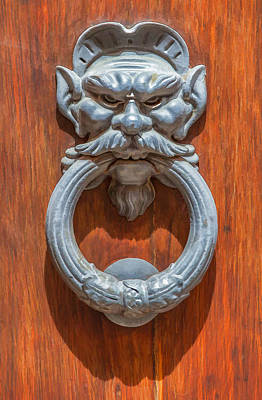 Door Knocker Of Tuscany Poster by David Letts
