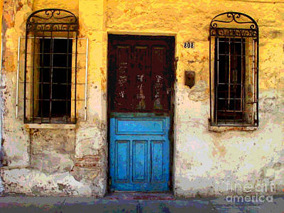 Door On Mariano 2 By Darian Day Poster by Mexicolors Art Photography
