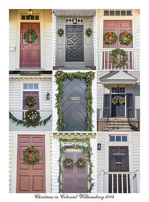 Doors Of Williamsburg Collage 4 Poster by Teresa Mucha